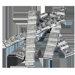 Auswuchtblei Silber Riegel 60g 5/10 Teilung