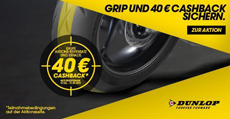 Dunlop Cashback 40 Euro