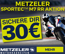 Metzeler M7RR Aktion 30 Euro