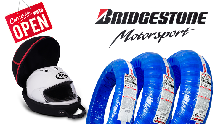 Bridgestone Aktion Helmet Bag gratis!